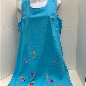 Erika Petite Dress Sundress size 14 tropical fish